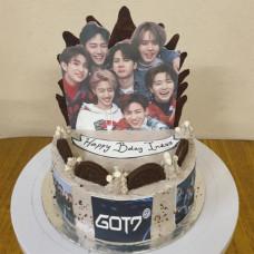 Торт для фаната музыкальной группы GOT7