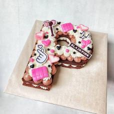 Торт Буква BlackPink