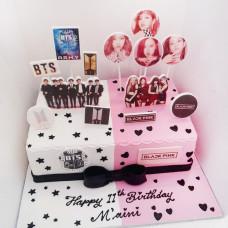 Торт с BlackPink и BTS
