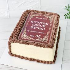 Торт книга из крема