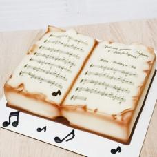 Торт книга с нотами