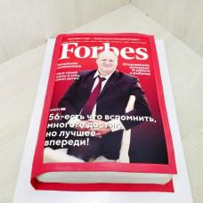 Торт в виде журнала Форбс