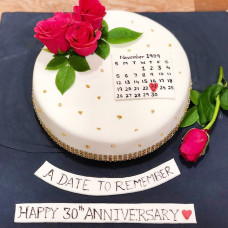 Торт календарь на юбилей
