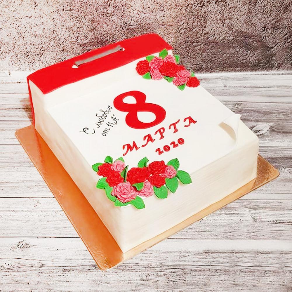 Торт календарь на Международный женский день
