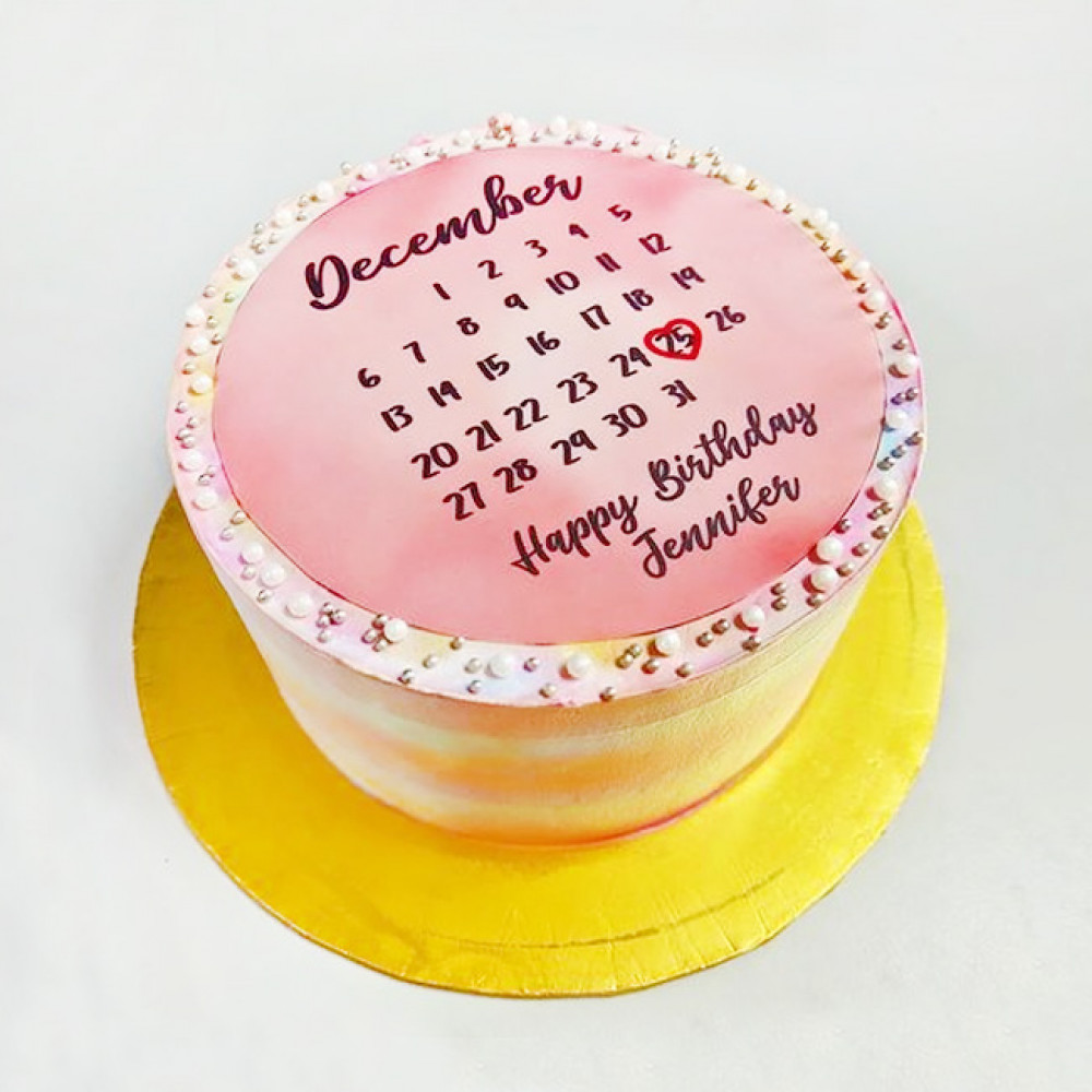 Торт календарь на день рождения