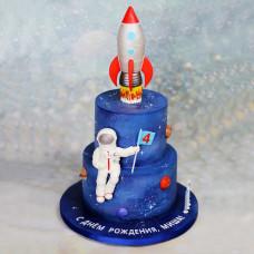 Торт с ракетой для мальчика