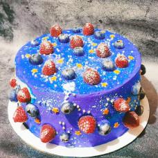 Космический торт без мастики