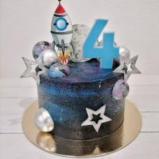 Космический торт для мальчика