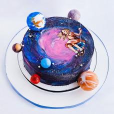 Торт в виде космоса