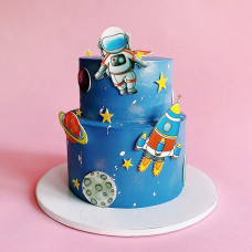 Двухъярусный торт космос