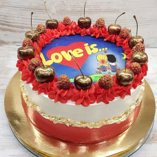 Торт Love is без мастики