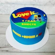 Торт Лав из на 4-ю годовщину свадьбы