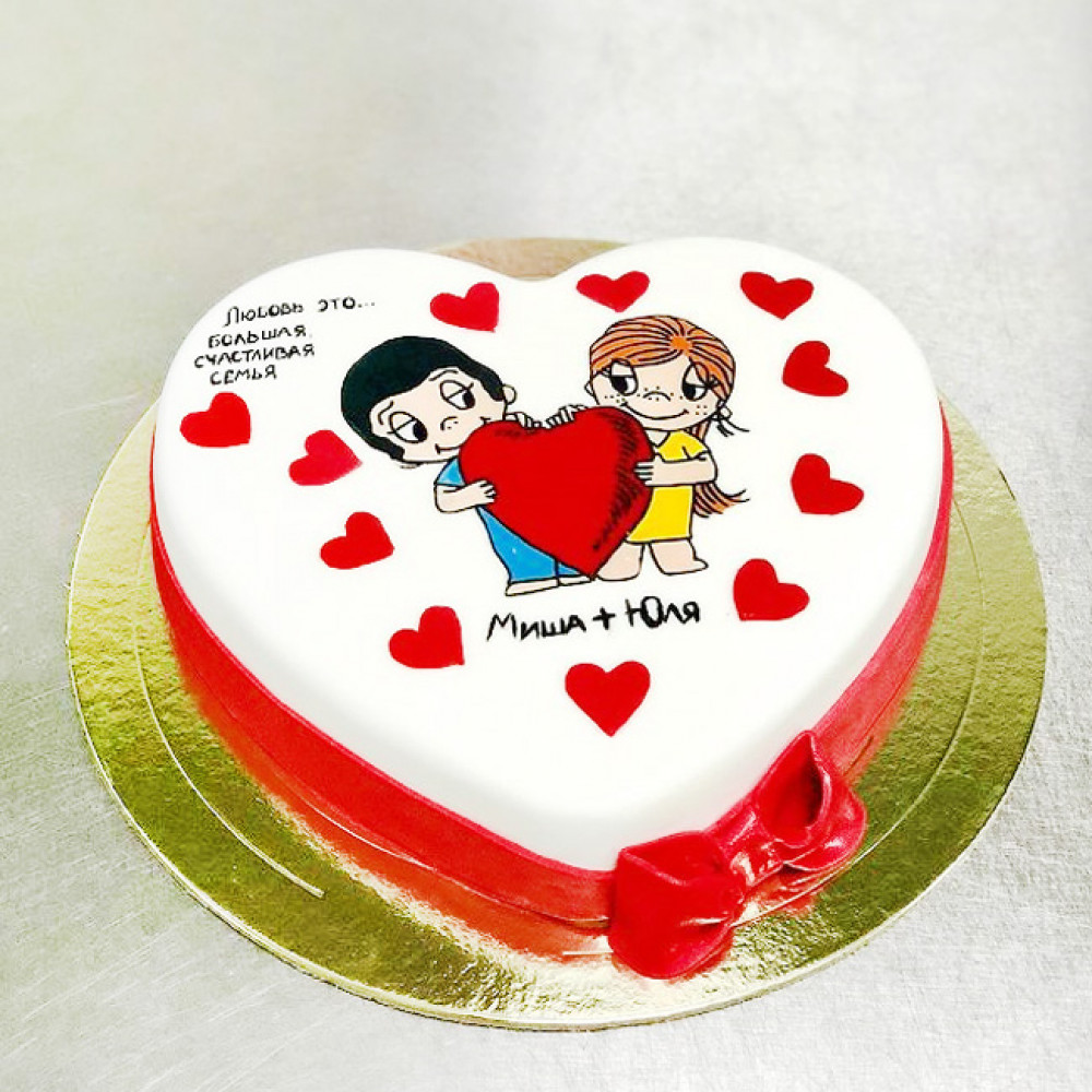 Торт Love is сердце