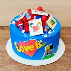 Торт Love is мужу
