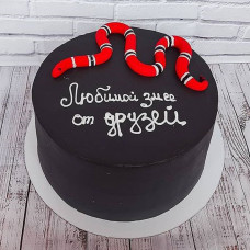 Торт Любимой змее от друзей
