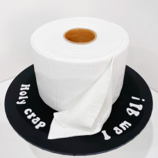 Торт в виде туалетной бумаги
