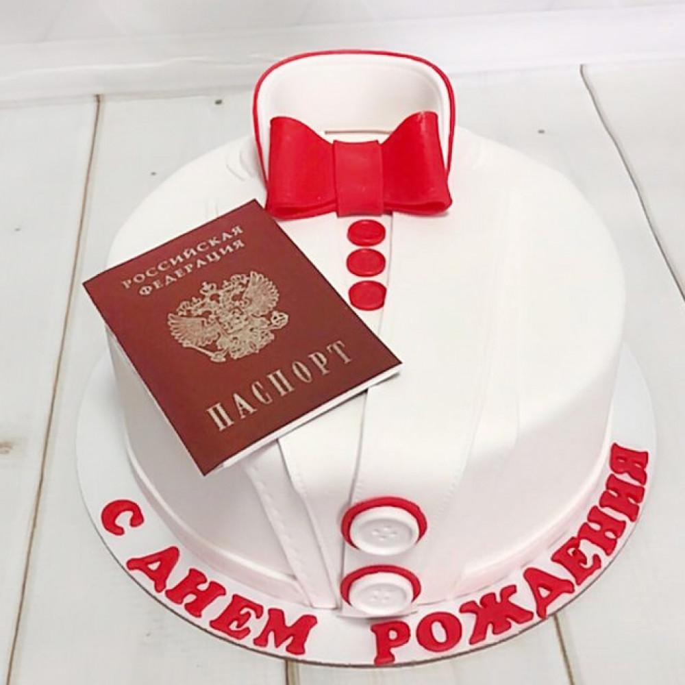 Торт паспорт на 14-летие