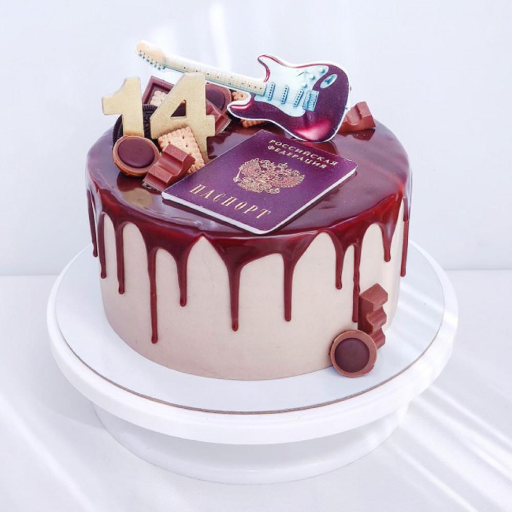 Торт паспорт на день рождения