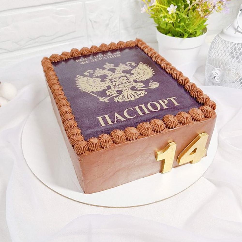 Торт на получение паспорта мальчику