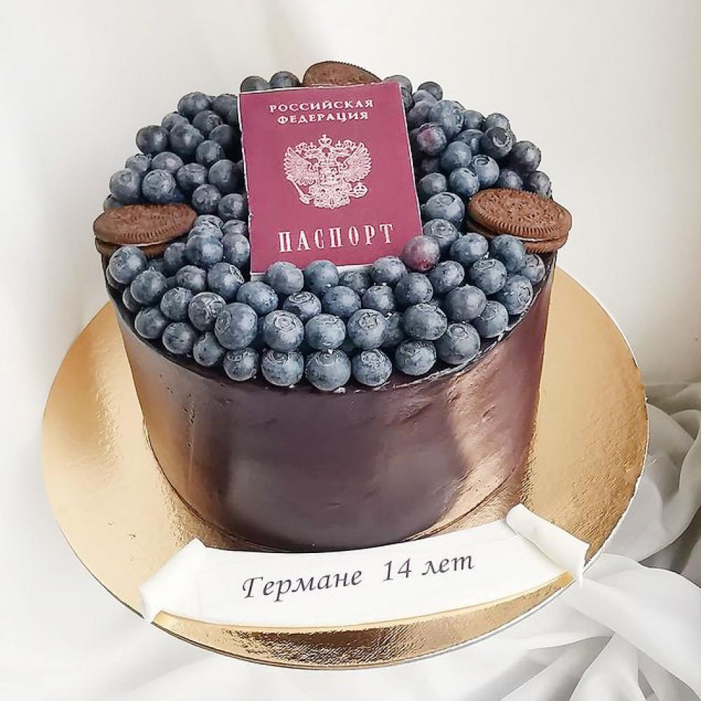 Торт Российский паспорт