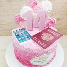 Торт на получения паспорта 14 лет