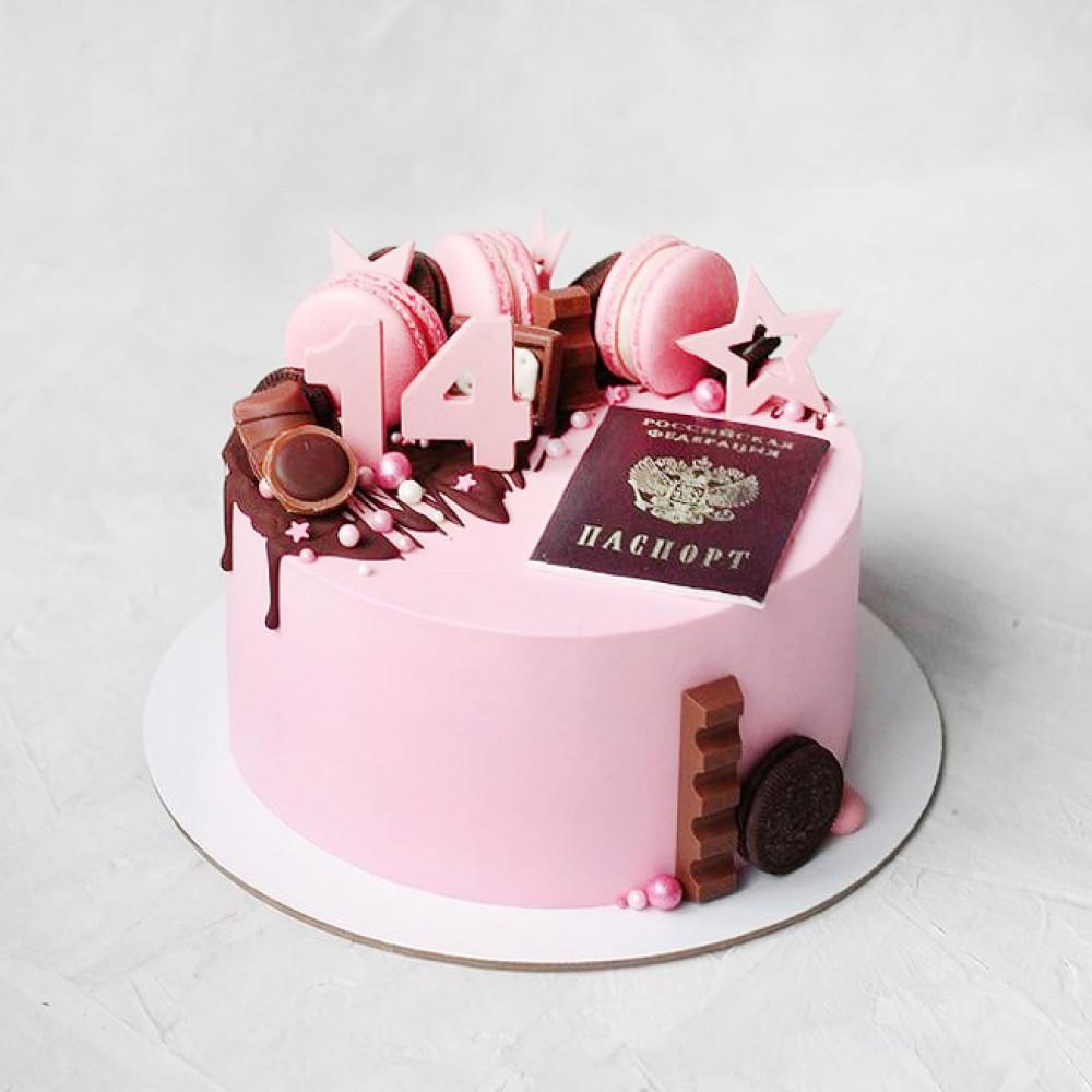 Торт с паспортом для девочки