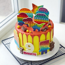 Торт мальчику pop it на 9 лет
