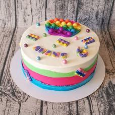 Торт девочке Pop it на 6 лет