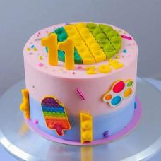 Торт с Поп ит антистресс