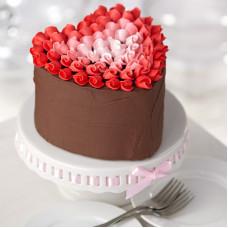 Шоколадный торт сердце