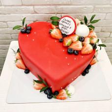 Торт сердце для мамы