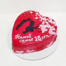 Торт сердце свадьба
