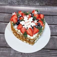 Торт сердце на день рождения