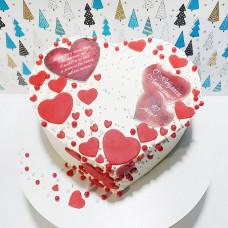 Торт сердце для мужчины
