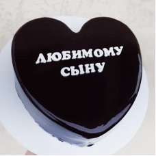 Торт черное сердце