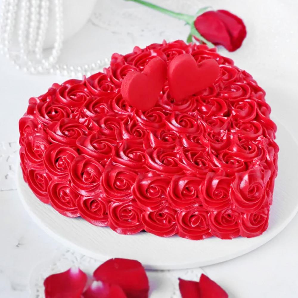 Кремовый торт сердце