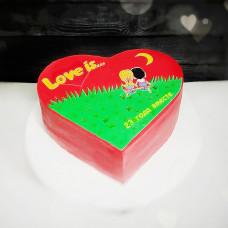 Торт сердечко на свадьбу