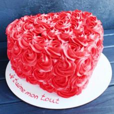 Красивый торт сердце