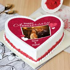 Торт сердце с фотопечатью