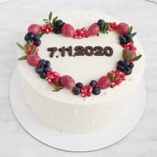 Торт сердце на день рождения мужчине