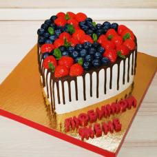 Торт большое сердце
