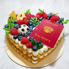 Торт сердце детское
