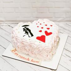 Торт сердце для мужа