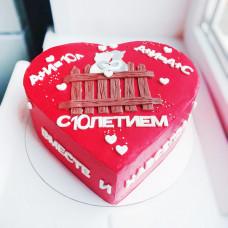 Торт сердце на годовщину