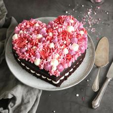 Открытый торт сердце