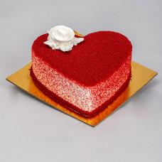 Торт сердце красный бархат