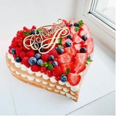 Торт сердце на юбилей