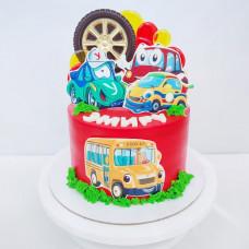 Торт автобус и машинки