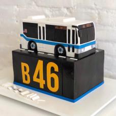 Детский торт автобус