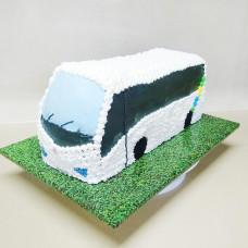 Торт автобус из крема